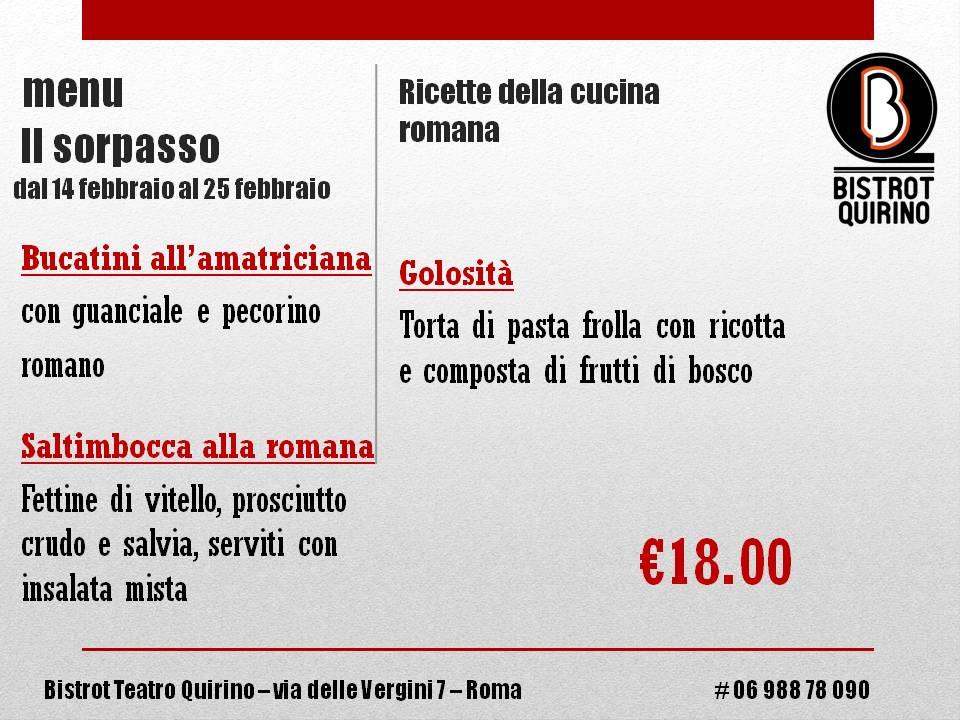 menu Il sorpasso - 022017