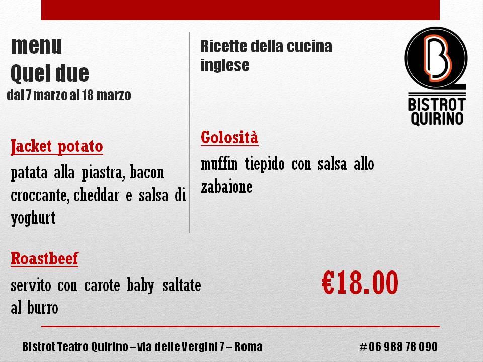 menu QUEI DUE - 032017